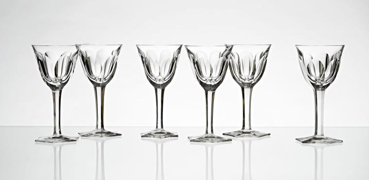 Moser Set Of Vine Glass Adele Melikoff 6 Pcs Aukce